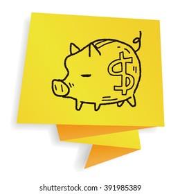 doodle pig money bank
