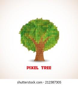 Doodle pixel tree