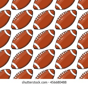 doodle rugby ball pattern