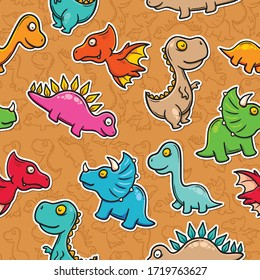 Doodle Seamless Pattern Icons Hand Drawn Coloring Vector