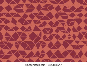 Doodle seamless pattern. Triangle geometric background. Scribble texture. Fashion textile fabric or print. Modern grunge line design. pattern vector.