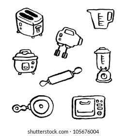 doodle series - kitchen appliances