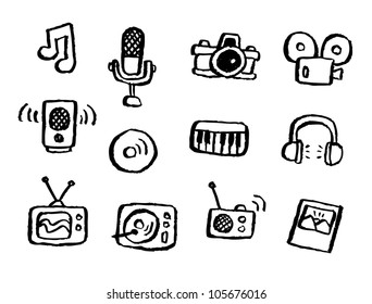 doodle series - media