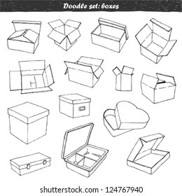 Doodle set - boxes