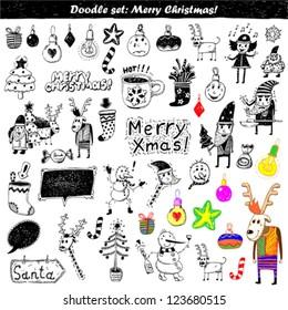 Doodle set - Merry Xmas