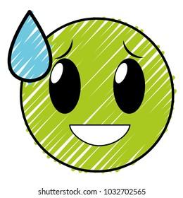 doodle shame laugh face gesture emoji expression