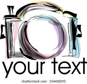 doodle sketch digital camera whimsical illustration