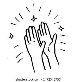 doodle sketch style applause on white background.hand drawn of  applause. design element hand drawn .