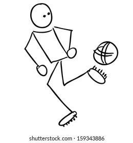 Doodle Soccer player