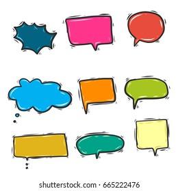doodle speech bubble