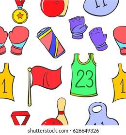 Doodle sport sequipment object various