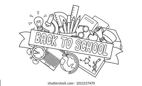 Back to School Coloring Pages | Libro de colores, Páginas para ... | 280x462