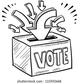 Vote Sketch Images Stock Photos Vectors Shutterstock