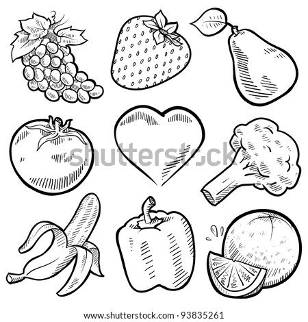 Backgroun Wall Pictures Of Fruits And Vegetables To Draw