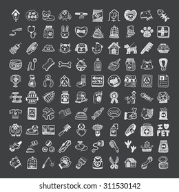 doodle style pet icons