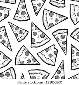 lhf graphics s portfolio on shutterstock 17th Century Decorating Styles doodle style pizza slice seamless vector background