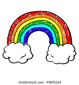 Rainbow Drawing Images Stock Photos Vectors Shutterstock