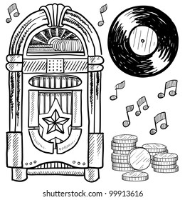 Vintage jukebox images stock photos vectors shutterstock for Jukebox labels template