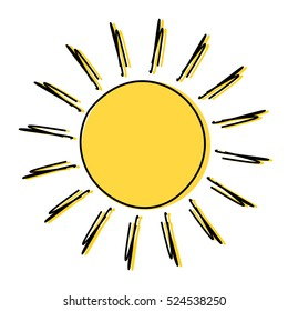 Sun Drawing Images, Stock Photos & Vectors