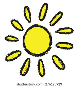 doodle sun, vector illustration