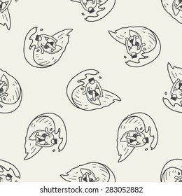 Doodle Surf seamless pattern background