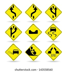 Doodle Traffic Signs, Vector Illustration EPS 10.