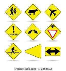 Doodle Traffic Signs, Vector Illustration EPS 10.