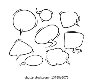 Doodle vector comics