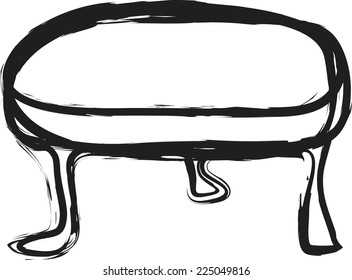 doodle wooden table