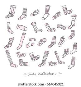 Doodled socks set