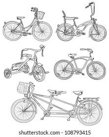 Doodles  bicycle set