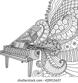 Piano Coloring Pages Stock Illustrations Images Vectors
