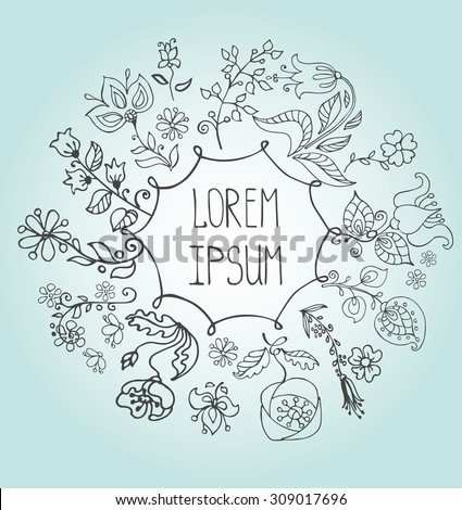 Doodles flowers hand drawing greeting cards stock vector royalty doodles flowers hand drawing greeting cards easterbirthdaywedding invitation pattern m4hsunfo