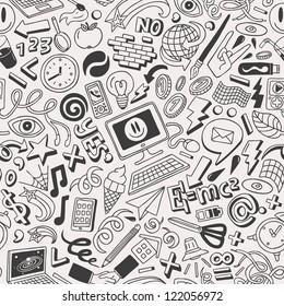 doodles -  seamless pattern