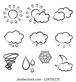 doodles weather icon set