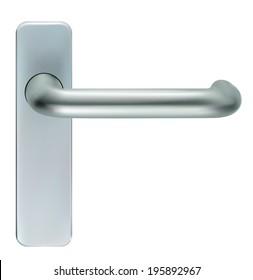Door closeup open. Vector EPS-10