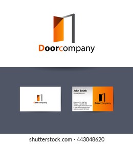 The Door company logo. Vector real estate business logo