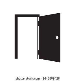 door flat icon vector illustration