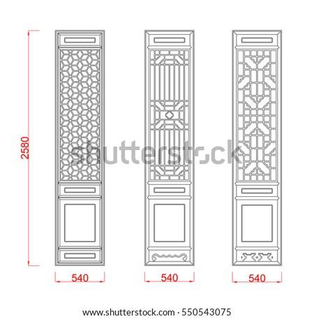 Door Frame Vector Image Dimension Black Stock Vector (Royalty Free ...
