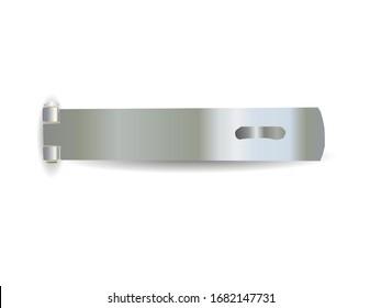 Door hasp lock isolated on white background illustration vector