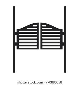 door icon, saloon door vector icon, simple illustration of saloon door icon