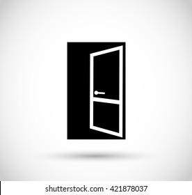 Door icon vector