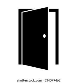 Door icon . Vector illustration