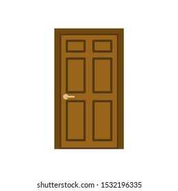 Door icon. Vector illustration in minimalistic flat design style.