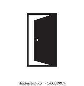 Door icon vector sign illustration