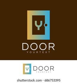 door initial Letter Y Logo design