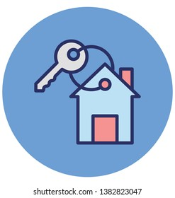 Door key Isolated Vector Icon which can easily modify or edit