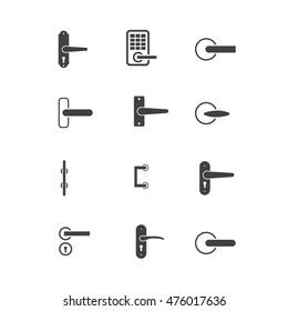 door knobs icon set