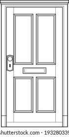 door line art