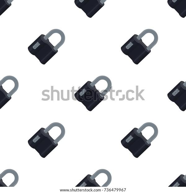 Door Lock Code Lock Single Icon Stock Vector Royalty Free 736479967